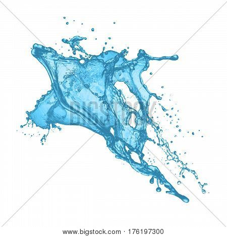 paint or ink splash. spray with drops isolated,  splash or splatter