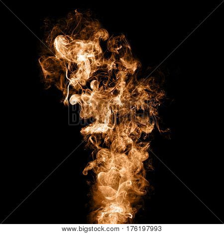 smoke swirls on black background, ink swirls, golden yellow brown smoke,movement of smoke
