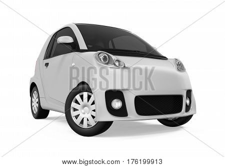 Electric Car Vehicle isolated on white background. 3D render