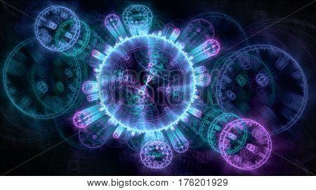 Fractal patterns moving toward the viewer at incredible velocity
