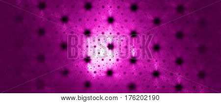 A gauzy hazy screen covered in a pattern of holes.