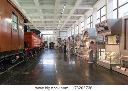 Moscow, Russia - March 11.2017 Museums of Moscow Railway