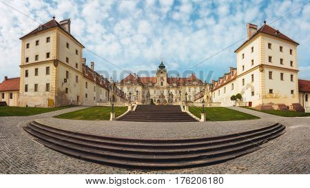 Valtice, Czech Republic - May 5th, 2014: Baroque Castle in Valtice, Moravia, Czech Republic