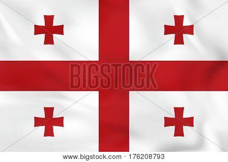 Georgia Waving Flag. Georgia National Flag Background Texture.