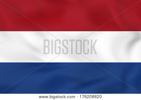Netherlands Waving Flag. Netherlands National Flag Background Texture.