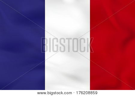 France Waving Flag. France National Flag Background Texture.