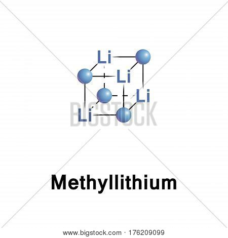 Methyllithium is the simplest organolithium reagent with the empirical formula CH3Li. This s block organometallic compound adopts an oligomeric structure both in solution and in the solid state