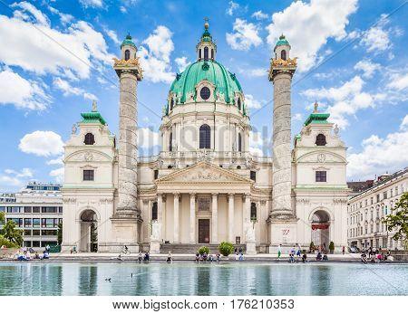 Wiener Karlskirche (saint Charles's Church) At Karlsplatz, Vienna, Austria