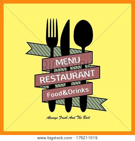 Modern Simplicity Restaurant Menu Design