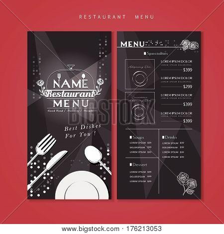 Sparkling Restaurant Menu Design