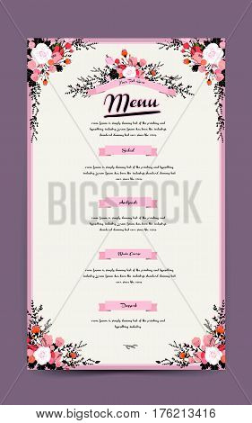 Graceful Restaurant Menu Design