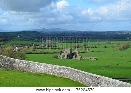 Beautiful Scenic Views of Hore Abbey in Ireland