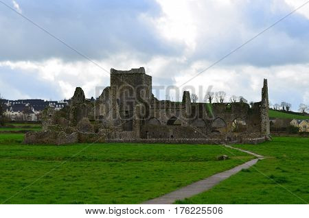 Old stone ruins of Hore Abbey in County Tipperary Ireland.