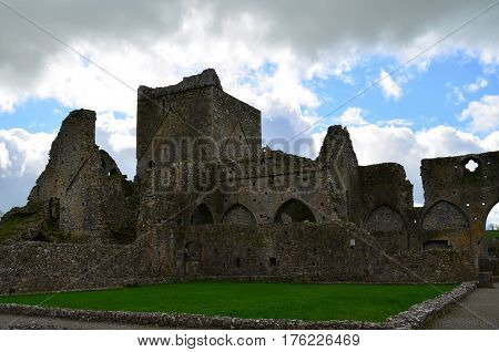 Stone structure of Hore Abbey remaining standing.
