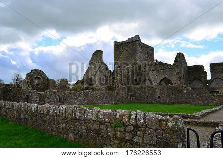 Old Benedictine abbey convereted to a Cistercian monastery in beside the Rock of Cashel.
