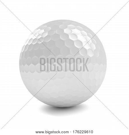 3D Render Of Golf Ball Isolated Over White