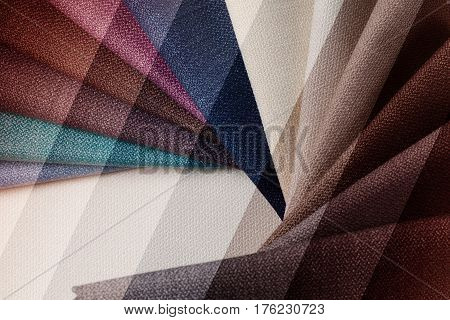 Bright abstract graphic background with gunny textile samples. Good for advertising backdrop and wall art.