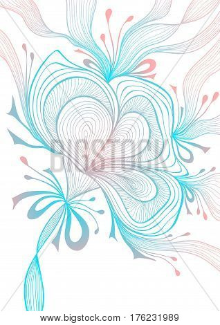 Beautiful light abstract background with lace flower bows blue pink on white for wallpaper or  decoration package perfumer textile clothes or for screen on mobile telephone tablet or for banners