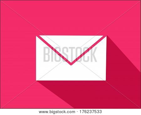 envelope vector illustration flat style with shadow