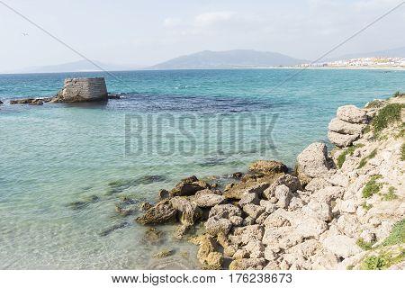 Tarifa beach Cadiz Andalusia Kitesurf place in Spain
