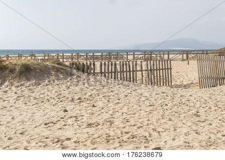 Tarifa beach Cadiz Spain Europe Kitesurf place