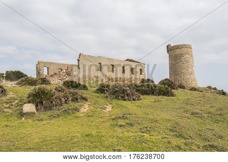 Guadalmesi watchtower Strait Natural Park Cadiz Spain