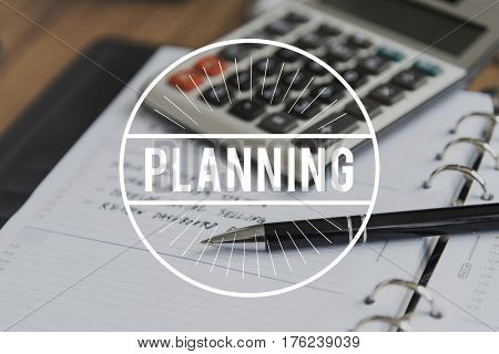 Business Plan Strategy Goals Concept