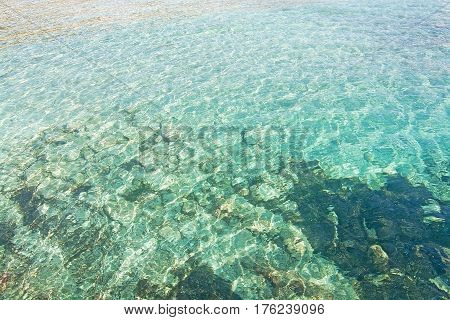 Green Shallow Sea Water Background Texture