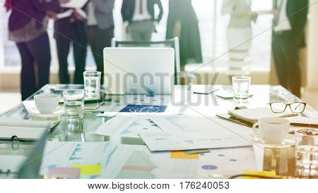 Corporate business people busy meeting