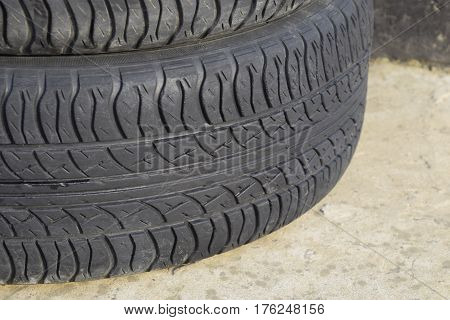 Automobile Wheel. Rubber Tires. Summer Rubber Set For The Car. W