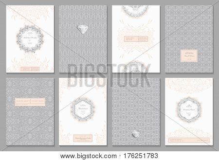 Nice creative card template with flourishes ornament elements. Background for invitation, announcement, brochure, wedding