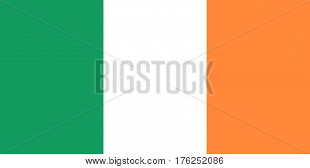 Flag Of Ireland In Tricolor