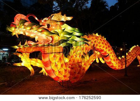 Chinese Lantern In The Shape Of A Dragon