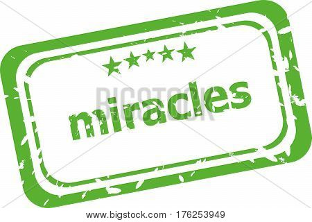 Miracle Stamp Sign Text Word Logo Isolated On White