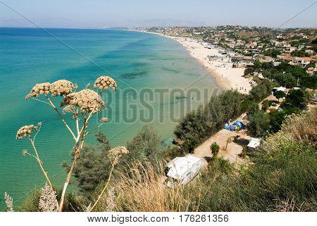 Castellammare del Golfo, Italy - 8 July 2008: The coast of Castellammare del Golfo on Sicily