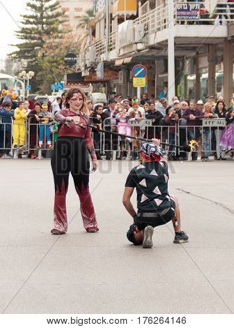 Jugglers Show Their Art For The Viewers On The Street