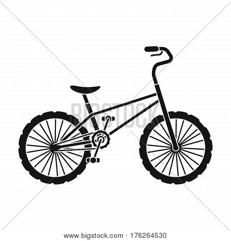 BMX Cyclist Bicyclist Athletes Sportsman. Bike for jumps and athletes.Different Bicycle single icon in black style vector symbol stock web illustration.