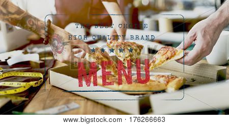 Food Words Pizza Appetite Meal