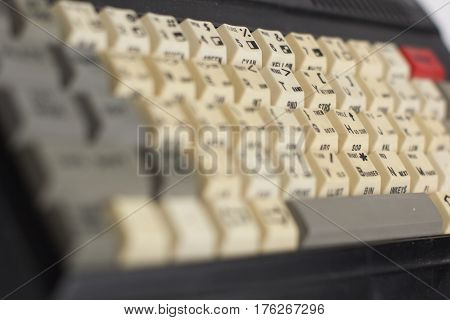 old computer keyboard as part of computer history