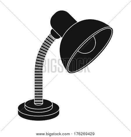 Purple table lamp. Light for making lessons .School And Education single icon in black style vector symbol stock web illustration.