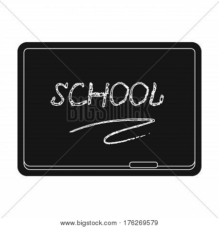 Blackboard with chalk and pointer . Board for classes.School And Education single icon in black style vector symbol stock web illustration.