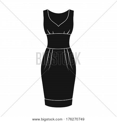Red long evening dress for a hike in the theater. Women s sleeveless dress.Women clothing single icon in black style vector symbol stock web illustration.
