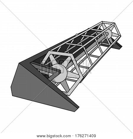 Metal attachment to the tractor for the harvest. Modern agricultural machinery.Agricultural Machinery single icon in monochrome style vector symbol stock web illustration.