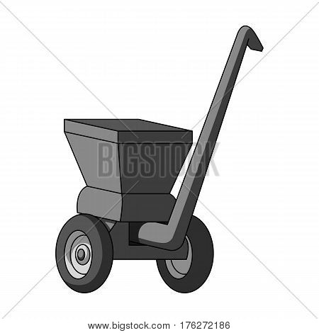 Agricultural Machinery .The machine for cutting agricultural hay.Agricultural Machinery single icon in monochrome style vector symbol stock web illustration.