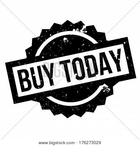 Buy Today rubber stamp. Grunge design with dust scratches. Effects can be easily removed for a clean, crisp look. Color is easily changed.