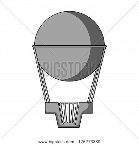 Aerostat. Pink big balloon for flight and travel.Amusement park single icon in monochrome style vector symbol stock web illustration.