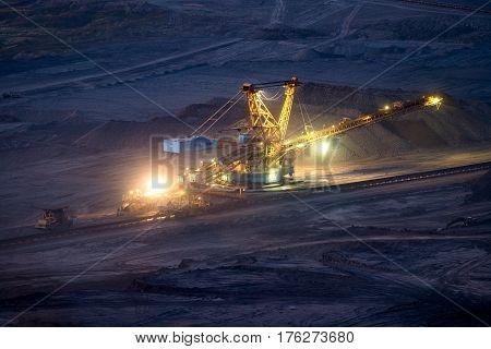 Coal Mine of Czechoslovak Army, MUS Basin, North Bohemia