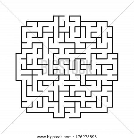 Vector labyrinth 111. Maze / labyrinth with entry and exit.