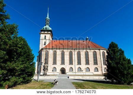 Church of the Assumption of the Virgin Mary in Most, Czech Republic