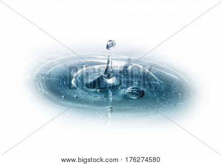 Water Drop, Crown And Splash